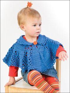 Lil Collar Poncho Free Crochet Pattern