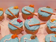 Fishing Birthday Party--Cupcakes and Party Favors - Close To Home