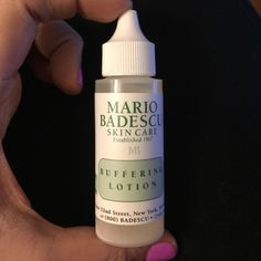 Mario Badescu buffering lotion Great for spot treating stubborn acne. Will work on white heads and those painful underground breakouts. Dries clear so great to use anytime of the day. Mario Badescu  Makeup