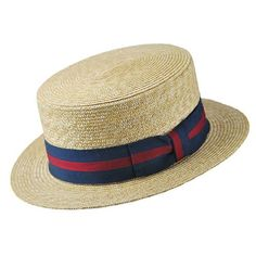 5dda5534 Buy the Jaxon & James Straw Boater Hat - Striped Band at Village Hats. The  destination for hats and caps online.