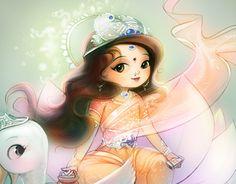 """Check out new work on my @Behance portfolio: """"Goddess Gayatri"""" http://on.be.net/1IjcxSg"""