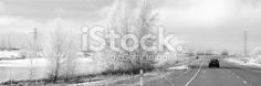 Hoar Frost on Winter's Morning Drive Royalty Free Stock Photo Deep Photos, Frost, Monochrome, Royalty Free Stock Photos, Country Roads, Black And White, Winter, Photography, Led