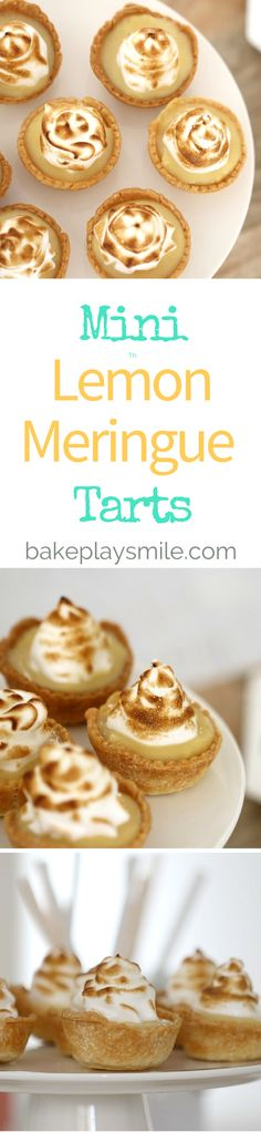 Mini Lemon Meringue Tarts made from shortcrust pastry, lemon curd and light and fluffy meringue are the most delicious party food or high tea treat! #lemon #meringue #tarts #homemade #mini #easy #dessert #partyfood #thermomix #conventional #baking