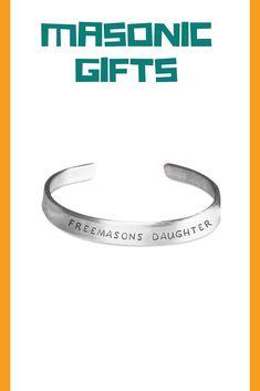 Freemason Lodge, Masonic Gifts, Daughter, Symbols, Bracelets, Silver, Jewelry, Jewlery, Jewerly
