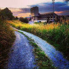 Almost Heaven, West Virginia. #WVU #ConnectWVU #sunset #sky #stadium photo cred: @xjessiikuh