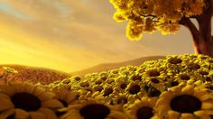 Sunflowers Digital Art HD desktop wallpaper, Tree wallpaper, Field wallpaper, Sunset wallpaper, Sunflower wallpaper - Digital Art no. Hd Flowers, Beautiful Flowers Wallpapers, Colorful Flowers, Pretty Backgrounds, Flowers Nature, Summer Flowers, Pretty Flowers, Yellow Flowers, Wallpaper Animes