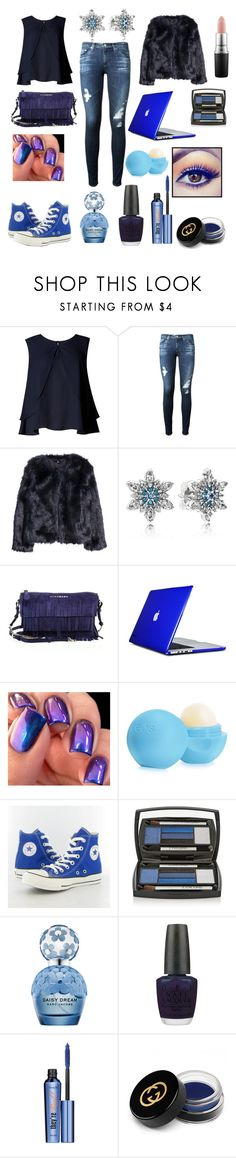 """""""Blue"""" by miekex ❤ liked on Polyvore featuring Limited Edition, AG Adriano Goldschmied, H&M, Pandora, Burberry, Speck, Eos, Converse, Lancôme and Marc Jacobs"""
