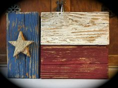TEXAS FLAG SIGN RUSTIC WOOD BLOCKS SHELF SITTER DECOR AMERICANA COUNTRY PRIMITIV #Handmade #RusticPrimitive