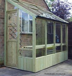 Wooden Lean to Greenhouses for