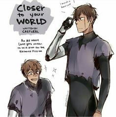 VLD AU 'Closer to your World' Lance went on the Kerberos mission instead (1/2)