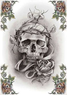 ... Rose Tattoos Grim Reaper Tattoo Reaper Tattoos Skull Tattoo Design