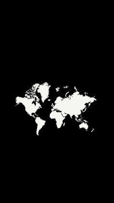 69 Super Ideas For Travel Wallpaper Phone Products Black Background Wallpaper, Black Phone Wallpaper, Homescreen Wallpaper, Wallpaper Backgrounds, Wallpaper Quotes, World Map Wallpaper, Wallpaper Gallery, Travel Wallpaper, Gallery Wall