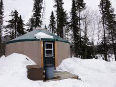 Yurt for rent at Mont-Tremblant National Park