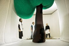 Expo 'Breien!' in het Fries Museum. City of stitches - Isabel Berglund #breien #knitting