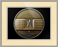 "Patek Philippe Geneve Commemorative Medal Coin // Paper: enhanced matte; Glazing: acrylic; Moulding: silver, arqadia beaded silver; Top Mat: white/cream, paper ivory; Middle Mat: white/cream, raphael cloud; Bottom Mat: white/cream, chantilly // Price starts at $125 (Petite: 19"" x 21""). // Customize at http://www.imagekind.com/Patek-Philippe-Geneve-PPG_art?IMID=5cad76ca-2632-4430-9e1b-71f73e27c714"