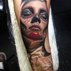 Day of the Dead Tattoo by Nikko Hurtado