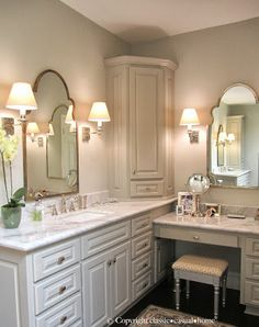 Bathroom Makeup Vanity Ideas | Bathroom makeup vanities, Makeup ...