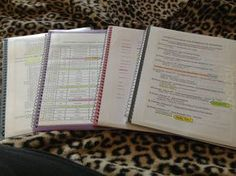 Organize all of your class information, handouts, assignments, etc. into binders. You need to be organized if you want to make an A!