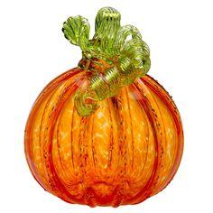Tom Ryder: Large Pumpkin, Orange  #cmogshops #glass #pumpkin #decor #fall