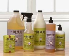 Mrs. Meyer's cleaning products: earth-friendly, delicious scents. At Target.