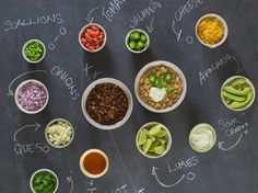 Chili Bar - Top your chili your own way in this fun and creative chili toppings bar.