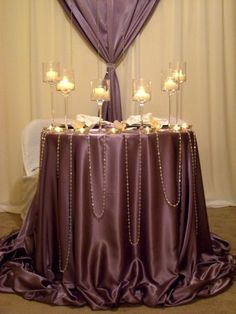 Wedding, Reception, White, Decor, Purple, Table, Silver, Head - Project Wedding