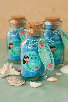 DIY Mermaid Bath Salts | Evermine Blog | www.evermine.com #gift #handmade #partyfavor