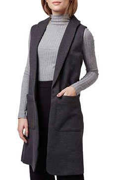 Topshop Shawl Collar Longline Vest