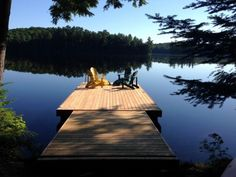 Cottage for Rent on Waseosa Lake near Huntsville in District of Muskoka Ontario Lake Dock, Waterfront Cottage, Lakeside Living, Cute Cottage, Cottage Living, Lake Life, Small Lake Cabins, Lake Houses For Rent, Cottage Rentals