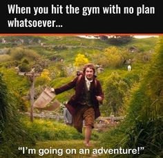 When you've done chest, arms, legs, shoulders, and abs already... That one day with no plan is an adventure