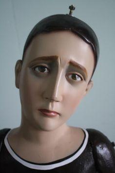 Virgen dolorosa,  de Manuel, Lico, Rodríguez, talla en madera para vestir, 1,60 m., parroquia de Santa Barbara de Heredia, Heredia, Costa Rica