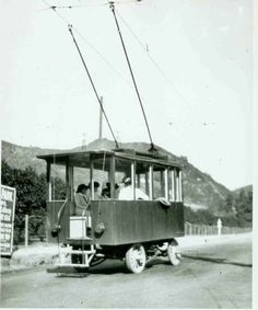 Historic Photograph of Trackless Trolley Going Up Laurel Canyon California History, Southern California, Go Up, Laurel Canyon, Shangri La, Los Angeles California, Bel Air, Old Hollywood, Hanging Out