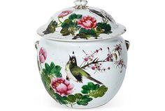 19th-C. Famille Rose Lidded Jar I on OneKingsLane.com