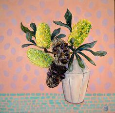 Funky Banksia Still LIfe Painting Art Print by Chris Hobel Weird Art, Strange Art, Bird Drawings, Buy Art Online, Australian Art, Paintings For Sale, Online Art Gallery, All Art, Home Art
