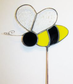 Stained Glass Garden Stake Bee by PowerGlassCreations on Etsy, $15.00