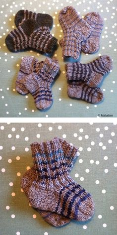 Knit Baby Booties, Knitted Baby, Knitted Dolls, Crochet Baby, Baby Knits, Knitting Socks, Baby Knitting, Knit Socks, Easy Knitting Patterns
