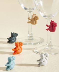 Life of the Nutty Glass Marker Set. A whimsical time will be had by all your guests when they're handed one of these squirrel drink markers from Fred! Secret Squirrel, Squirrel Girl, Secret Santa Gifts, Spirit Animal, Birthday Gifts, Friend Birthday, Birthday Quotes, Stocking Stuffers, Markers