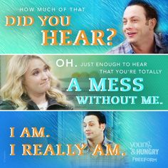 "S3 Ep6 ""Young & Rachael Ray"" - Oh, the mighty feels!  #YoungandHungry"