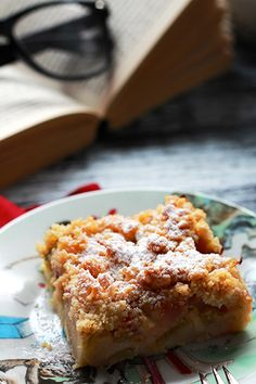 Proste ciasto z rabarbarem i kruszonką, with recipe