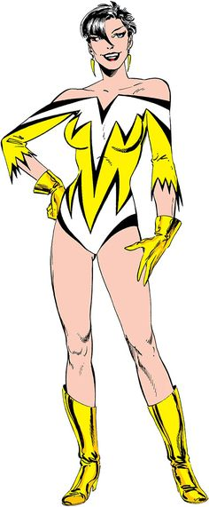Aurora of Alpha Flight (Marvel Comics) (Yellow costume). From http://www.writeups.org/aurora-marvel-comics-alpha-flight/