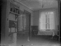 Köket i lägenheten, 3:e Tvärgatan 15, Elna och David Brundins första hem. Efter Davids fars död flyttade hans mor hit och själva flyttade dom till Kaserngatan 75, samma hus som dom sedan bodde i under adress Södra Centralgatan 26.
