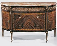 French style inlaid chest