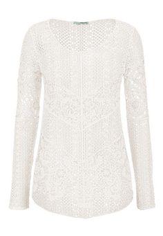 white crochet pullov