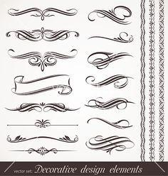 Calligraphic design elements vector 533942 - by sergo on VectorStock®