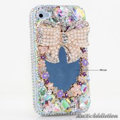 """Style 467 This Bling case can be handcrafted for iPhone 4/4S, 5, 5S, all Samsung Galaxy models (S3, S4, Note 2). The current price is $79.95 (Enter discount code: """"facebook102"""" for an additional 10% off during checkout)"""