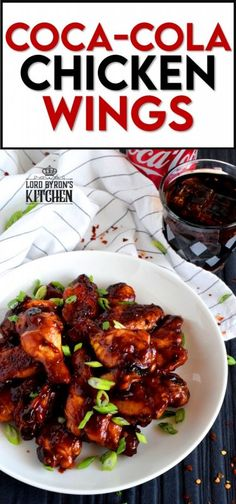 A can of Coke helps to sweeten and thicken this gorgeous and delicious sauce. Coca Cola Chicken Wings are the ultimate sticky, finger-licking, game-time appetizer. Who am I kidding!? These are perfect any time you choose to eat them - game or not! #coke #cocacola #cola #chicken #wings #gametime #appetizer