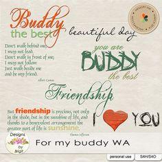 For my buddy wordarts :: Word Art & Titles :: Memory Scraps