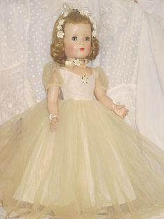 "Vintage 1950s 18"" Madame Alexander Margaret Face Bride Doll Sleep Eyes 