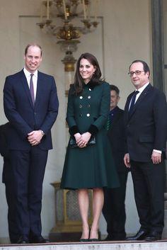 Kate and Will Kick Off Their Trip to Paris by Meeting the President