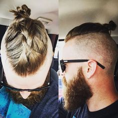 Men is always equal to short hair. But, they are also fond of long hair. And the braided hairstyles look awesome on modern generation. Top Hairstyles For Men, Mens Braids Hairstyles, Hairstyles Haircuts, Kids Hair Gel, Hair And Beard Styles, Long Hair Styles, Braided Man Bun, Viking Hair, Viking Braids